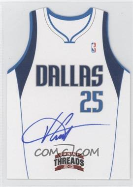 2012-13 Panini Threads Team Threads Die-Cut Signatures #11 - Vince Carter