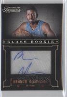 Glass Rookie Autographs - Andrew Nicholson /499