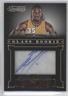 2012-13 Panini Timeless Treasures #205 - Glass Rookie Autographs - Kenneth Faried /499