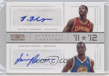 2012-13 Playoff National Treasures '11 vs '12 Signatures [Autographed] #24 - Harrison Barnes, Tristan Thompson /99