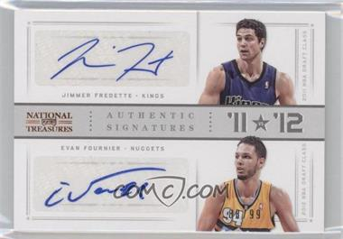 2012-13 Playoff National Treasures '11 vs '12 Signatures [Autographed] #80 - Evan Fournier, Jimmer Fredette /99