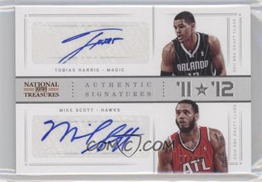 2012-13 Playoff National Treasures '11 vs '12 Signatures [Autographed] #98 - Mike Scott, Tobias Harris /99