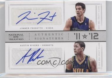 2012-13 Playoff National Treasures '11 vs '12 Signatures Silver #10 - Austin Rivers, Jimmer Fredette /49