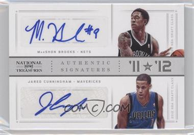 2012-13 Playoff National Treasures '11 vs '12 Signatures Silver #76 - Jared Cunningham, MarShon Brooks /49