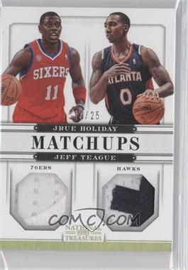 2012-13 Playoff National Treasures Matchups Materials Prime #62 - Jeff Teague, Jrue Holiday /25