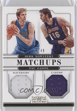 2012-13 Playoff National Treasures Matchups Materials #74 - Dirk Nowitzki, Pau Gasol /49