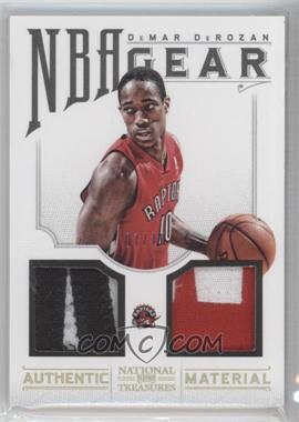 2012-13 Playoff National Treasures NBA Gear Combos Prime #35 - DeMar DeRozan /10