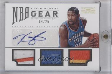 2012-13 Playoff National Treasures NBA Gear Combos Triple Prime Autograph [Autographed] #4 - Kevin Durant /25