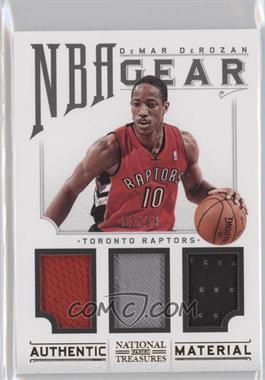 2012-13 Playoff National Treasures NBA Gear Combos Triple #12 - DeMar DeRozan /99