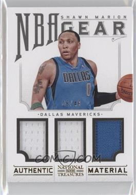 2012-13 Playoff National Treasures NBA Gear Combos Triple #13 - Shawn Marion /49