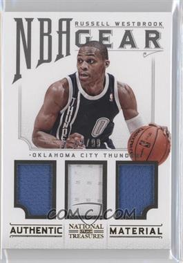 2012-13 Playoff National Treasures NBA Gear Combos Triple #24 - Russell Westbrook /99