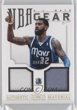 2012-13 Playoff National Treasures NBA Gear Combos #36 - O.J. Mayo /99