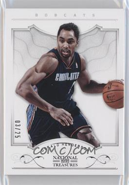 2012-13 Playoff National Treasures Silver #88 - Gerald Henderson /25