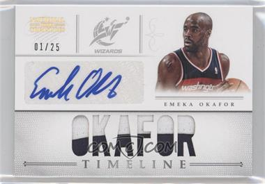 2012-13 Playoff National Treasures Timeline Materials Custom Names Signatures Prime #4 - Emeka Okafor /25