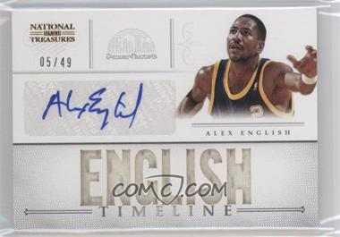 2012-13 Playoff National Treasures Timeline Player Name Autograph [Autographed] #21 - Alex English /49
