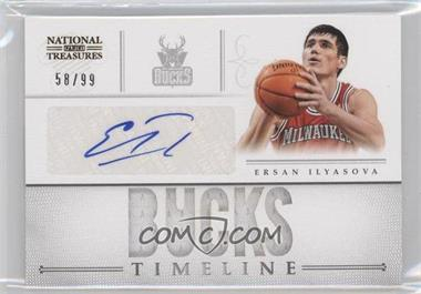 2012-13 Playoff National Treasures Timeline Team Name Autograph [Autographed] #14 - Ersan Ilyasova /99