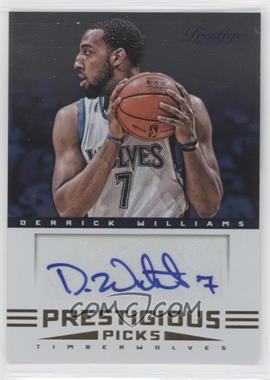 2012-13 Prestige Prestigious Picks Signatures #2 - Derrick Williams