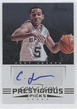 2012-13 Prestige Prestigious Picks Signatures #26 - Cory Joseph