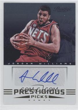 2012-13 Prestige Prestigious Picks Signatures #30 - Jordan Williams