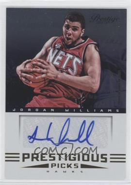 2012-13 Prestige Prestigious Picks Signatures #30 - Jordan Williams