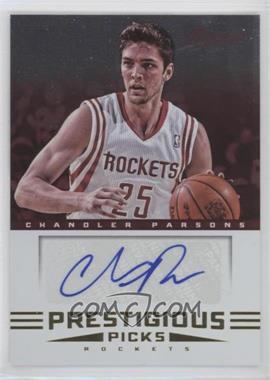 2012-13 Prestige Prestigious Picks Signatures #32 - Chandler Parsons