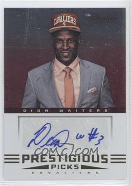 2012-13 Prestige Prestigious Picks Signatures #48 - Dion Waiters