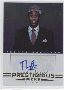 2012-13 Prestige Prestigious Picks Signatures #49 - Thomas Robinson