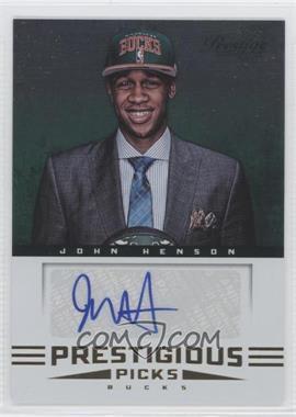 2012-13 Prestige Prestigious Picks Signatures #58 - John Henson