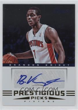 2012-13 Prestige Prestigious Picks Signatures #7 - Brandon Knight