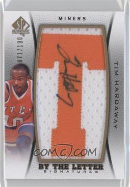 2012-13 SP Authentic By the Letter Signatures #BL-TH - Tim Hardaway /100