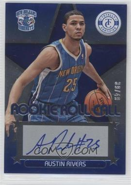 2012-13 Totally Certified - Rookie Roll Call - Blue [Autographed] #19 - Austin Rivers /49
