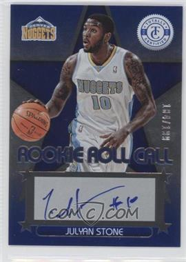 2012-13 Totally Certified - Rookie Roll Call - Blue [Autographed] #47 - Julyan Stone /199