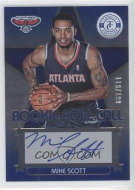 2012-13 Totally Certified - Rookie Roll Call - Blue [Autographed] #88 - Mike Scott /199