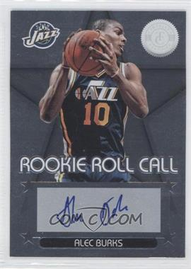 2012-13 Totally Certified - Rookie Roll Call - Silver [Autographed] #29 - Alec Burks