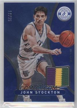 2012-13 Totally Certified Memorabilia Totally Blue Prime #27 - John Stockton /25