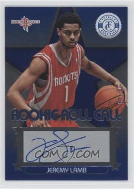 2012-13 Totally Certified Rookie Roll Call Blue [Autographed] #12 - Jeremy Lamb /49