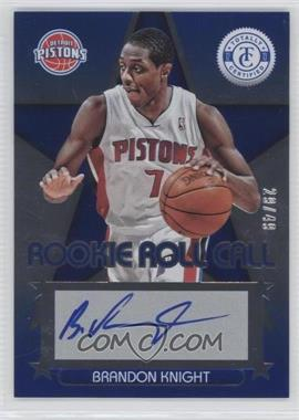 2012-13 Totally Certified Rookie Roll Call Blue [Autographed] #13 - Brandon Knight /49