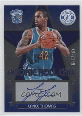 2012-13 Totally Certified Rookie Roll Call Blue [Autographed] #20 - Lance Thomas /199