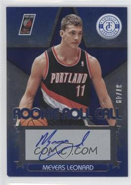 2012-13 Totally Certified Rookie Roll Call Blue [Autographed] #24 - Meyers Leonard /49