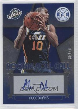 2012-13 Totally Certified Rookie Roll Call Blue [Autographed] #29 - Alec Burks /49