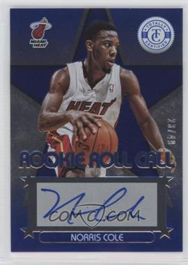2012-13 Totally Certified Rookie Roll Call Blue [Autographed] #34 - Norris Cole /49