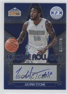 2012-13 Totally Certified Rookie Roll Call Blue [Autographed] #47 - Julyan Stone /199