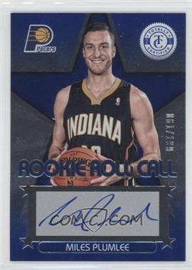 2012-13 Totally Certified Rookie Roll Call Blue [Autographed] #56 - Miles Plumlee /199