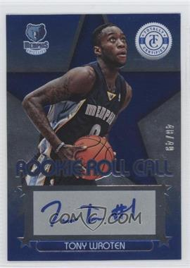 2012-13 Totally Certified Rookie Roll Call Blue [Autographed] #59 - Tony Wroten /49