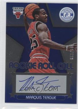 2012-13 Totally Certified Rookie Roll Call Blue [Autographed] #60 - Marquis Teague /129