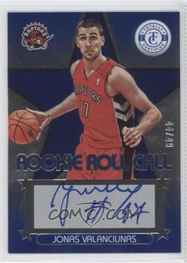 2012-13 Totally Certified Rookie Roll Call Blue [Autographed] #67 - Jonas Valanciunas /49