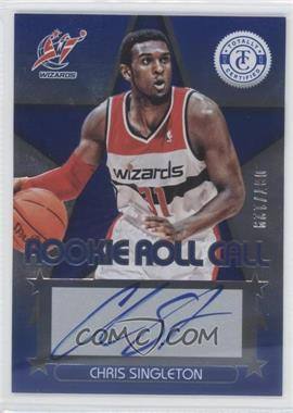 2012-13 Totally Certified Rookie Roll Call Blue [Autographed] #85 - Chris Singleton /129