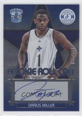 2012-13 Totally Certified Rookie Roll Call Blue [Autographed] #92 - Darius Miller /199