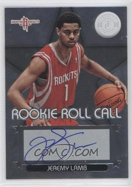 2012-13 Totally Certified Rookie Roll Call Silver [Autographed] #12 - Jeremy Lamb