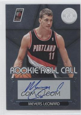 2012-13 Totally Certified Rookie Roll Call Silver [Autographed] #24 - Meyers Leonard